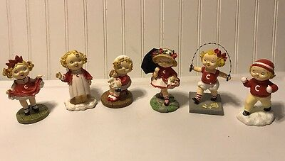 6 Campbell's ~ Campbell Kids ~ Danbury Mint Collector Figurines 1996 & 97