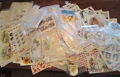 Huge Lot of Vintage Ceramic Decals Animals, Flowers, Disney, Fruit & Much More!