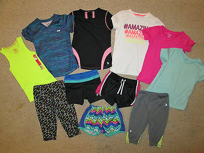 LOT 11 girls Champion C9 Danskin Now Old navy athletic tops shorts outfits 6/6x