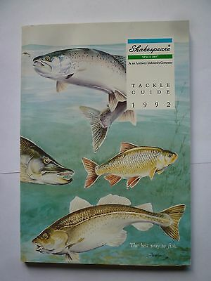 Shakespeare 1992 Fishing Tackle/Equipment Guide/Catalogue (Rods/Reels/Fly/Sea)