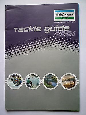 Shakespeare 2001 Fishing Tackle/Equipment Guide/Catalogue (Rods/Reels/Fly/Sea)
