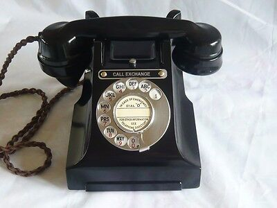 VINTAGE BAKELITE TELEPHONE CALL EXCHANGE GPO ART DECO RETRO antique dial phone