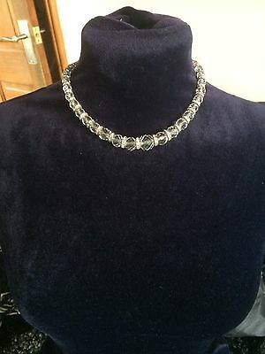 Vintage Jewellery Art Deco 1930's Clear Glass Crystal Rhinestone  NECKLACE