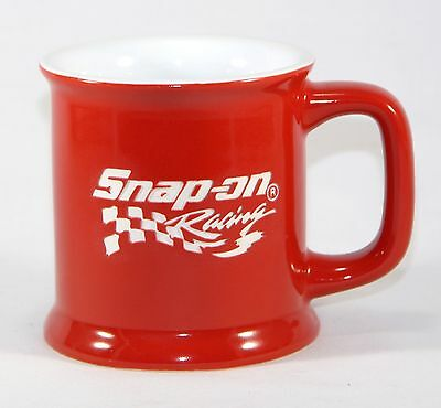 Snap-On Racing Mug Red White Etched Coffee Tea Cup Tools Nascar Race SNAP ON