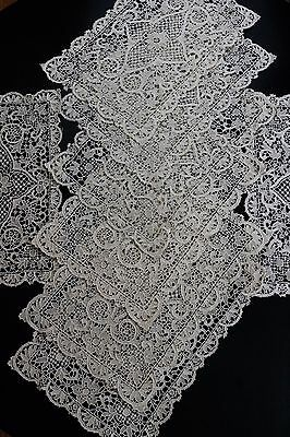 Point de Venise Needle Lace 8 Placemats & 6 Napkins, Oatmeal