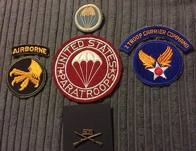 WW2 US Airborne Patches And Insignia