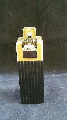 Original Chase Tower Lighter Satin Brass and Black 1939 Art Deco Bakelite