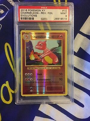 Charmander PSA 9 REVERSE HOLO Pokemon Evolutions