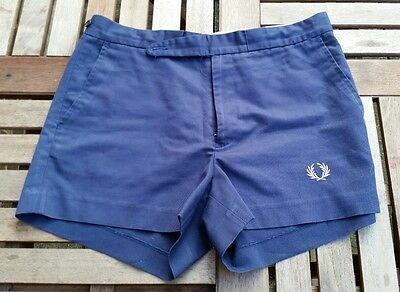 Fred Perry Vintage/Retro Tennis Shorts - Blue - Waist 32in
