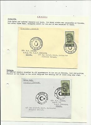Cyprus 1964 crescent moon pmk  covers x 2 written up