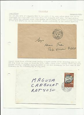 Cyprus 1972/4 Famagusta town  covers x 2 written up