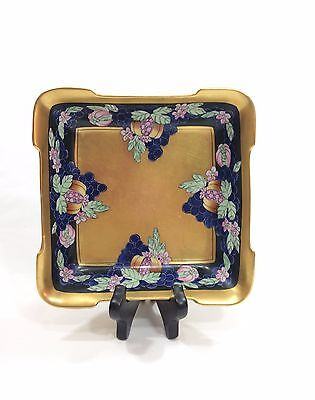 Pickard Hand Painted Dish, Antique Enamels, 1912-1918, Signed Tolpin