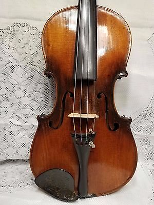 Old Nice 3/4 Beautiful Violin  Bretton Stamp Outfit