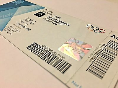 Authentic & Original London 2012 Olympic Games OPENING CEREMONY Ticket 27th July