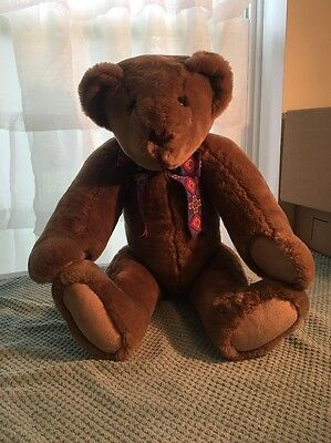 """Pre Owned - Vermont Teddy Bear Jointed 24"""""""