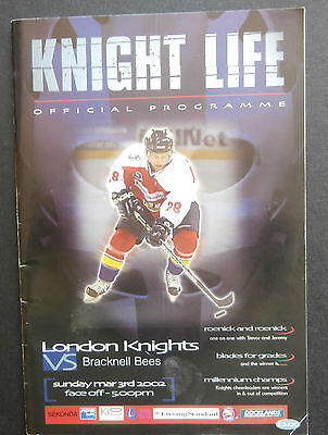 London Knights v Bracknell Bees - 2002 Ice Hockey Programme