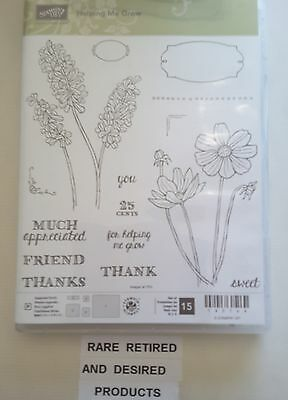 Stampin' Up *HELPING ME GROW* 13pc Clear Mount POLYMER Stamp Set. NEW