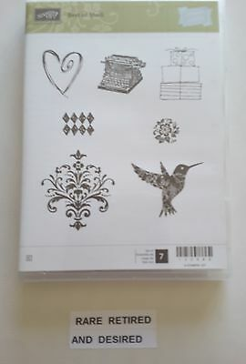 *BEST OF SHELLI* Stampin Up 7 pc Clearmount Rubber Stamp Set. NEW.