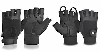 Real Leather Weight Lifting Gloves Premium Quality Fitness Training Padded