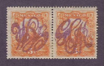 Mexico - Revolution, 1914 Large GCM Overprint Pair, Inverted + Regular (2 scans)