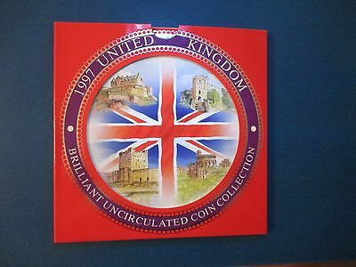 UK Britain 1997 9 Coin Mint Set 2 Pound Industry Pound Crest of England New 50P