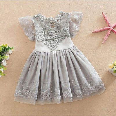 Toddler Kids Baby Girls Dress Party Pageant Wedding Tulle Tutu Dresses 5T