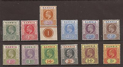 Gambia 1902 - SG45 - 56s fine MNH specimen and normal sets cat £500