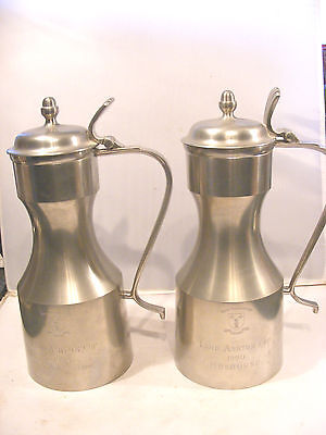 2 Vintage Pewter Golfing Trophies Royal Troon Lord  Ashton Cup Trophy