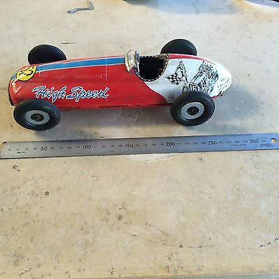 Vintage Marusan San Japan Tin High Speed Racer #52 Old Original Rare Race Car