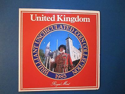 UK Britain 1985 7 Coin Mint Set Sealed