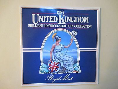 UK Britain 1984 7 Coin Mint Set Sealed (Last Year 1/2 Penny Minted)