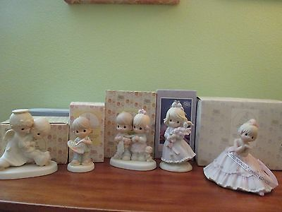 Precious Moments Lot of 5  Rare and Unique Figurines Excellent Condition