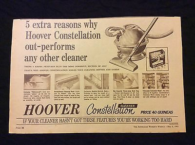 Hoover Constellation Vacuum Cleaner - Advertisement - 1963