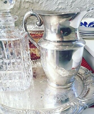 Silver Water Jug Vintage Goldcraft (EPNS Tray Available)