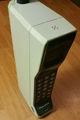 Vintage Motorola Dynatac 8000s Pulsar Brick Cell Phone with Case Untested As Is