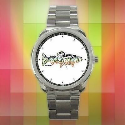 SEASON 2018 Sage Fly Fishing Reel Logo Fly Fishing Reels Sport Metal Watch