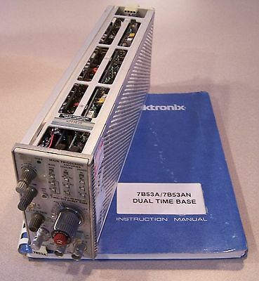Tektronix 7B53A Dual Time Base Oscilloscope Plug-In Module with Service Manual