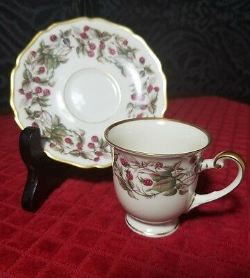 "R/Y HOHENBERG BAVARIA CHINA DEMITASSE CUP AND SAUCER ""Red Raspberry"""