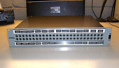 "East Coast Video Systems 52 Port 1/4"" Audio Patch Panel model ECV52"