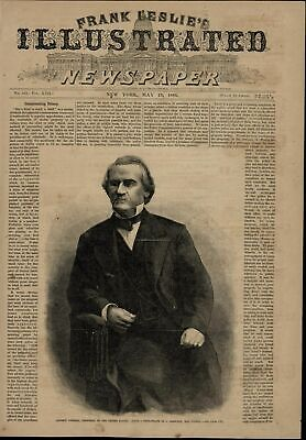 President Andrew Johnson Portrait nice 1866 great old print for display