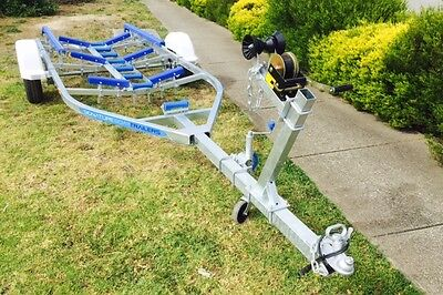 Precision boat trailer 5.2 mt total length galvanised drive on skid trailer