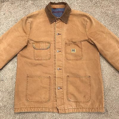 vtg USA made BIG BEN blanket lined canvas jacket coat L XL Wrangler workwear 42