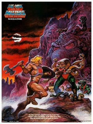 He-Man  POSTER #14  Masters of the Universe  *LARGE & AMAZING IMAGE*  He Man