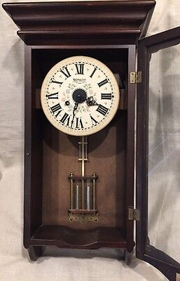 Vintage New England 14 Day Cathedral Gong Spring Wound Regulator Clock Ne210 C-M
