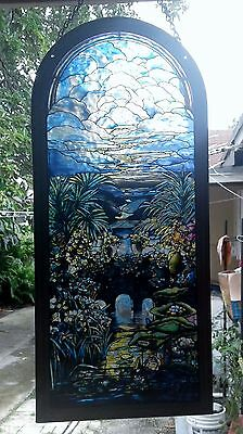 ©Glassmasters 1992 Vintage Louis C. Tiffany Stained Glass Panel