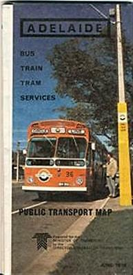 Adelaide Public Transport Map, 1978,