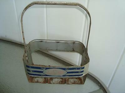 1940's Pepsi Double Metal 6 Pack Bottle Carrier