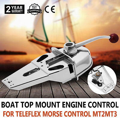 Marine Boat Engine Control Throttle Lever Universal Controller Dual Action