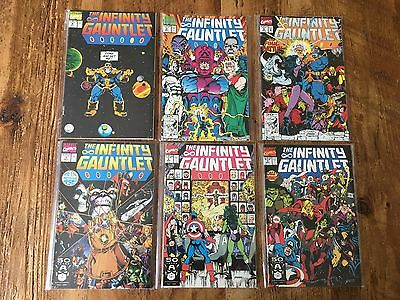The Infinity Gauntlet #1-6 *nm* Complete Set Thanos Starlin Marvel1991