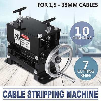 Manual Electric Wire Stripping Machine Recycle Tool Stripper 10 Channel 1.5-38mm